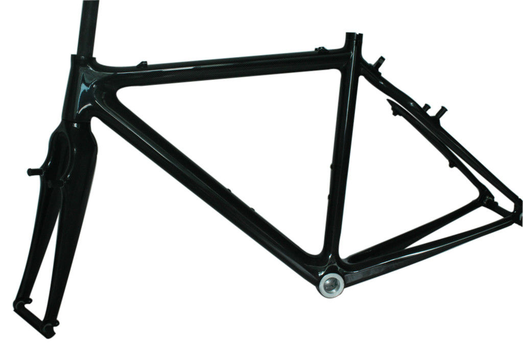 CX Carbon Fiber Cyclocross Frame T700  V Brake Flat Mount Black Color 54cm