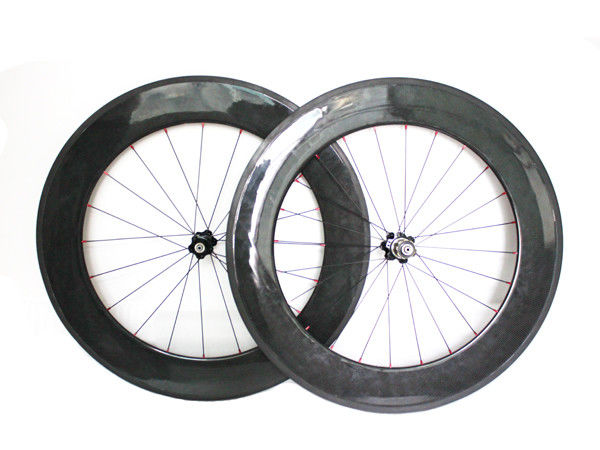 Good Strong Carbon Fiber Road Bike Wheels 700c 88mm Clincher Road Bicycle Front And Rear
