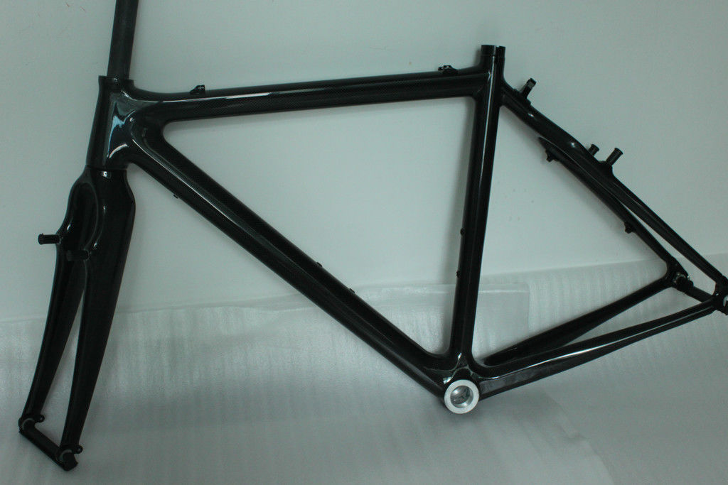 Vintage 52cm Carbon Cyclocross Frameset 142*12mm Rear Thru Axle 980G Net Weight