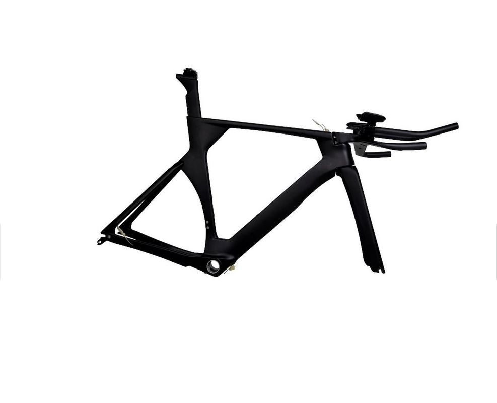 Blank Aero Carbon Track Bike Frame 54 / 56CM  Lightweight Womens Mens Black Color
